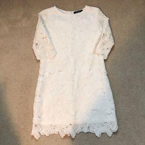 Women's white floral dress